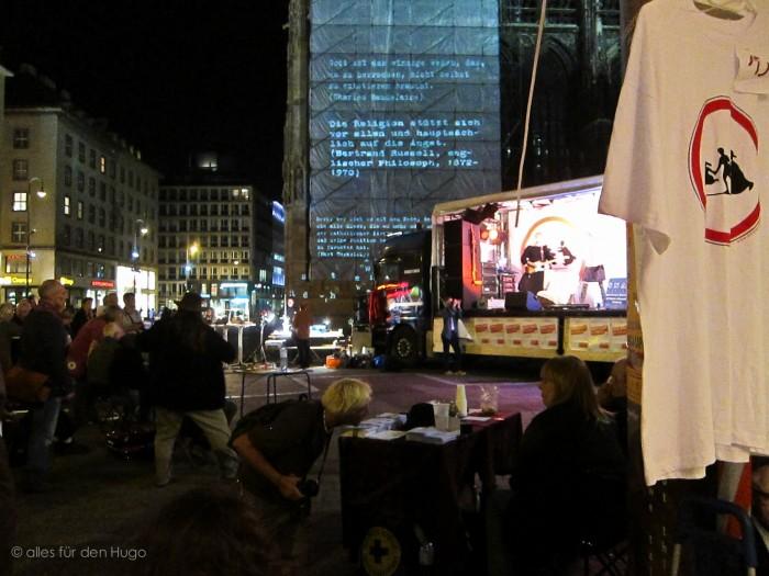 lange nacht des Missbrauch, Stephansplatz Wien